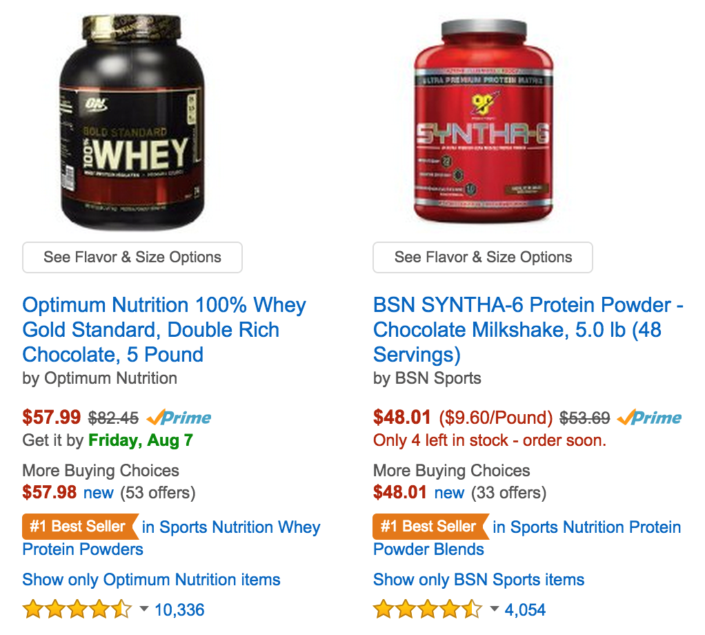 Online Shoppers Love Protein 1010data
